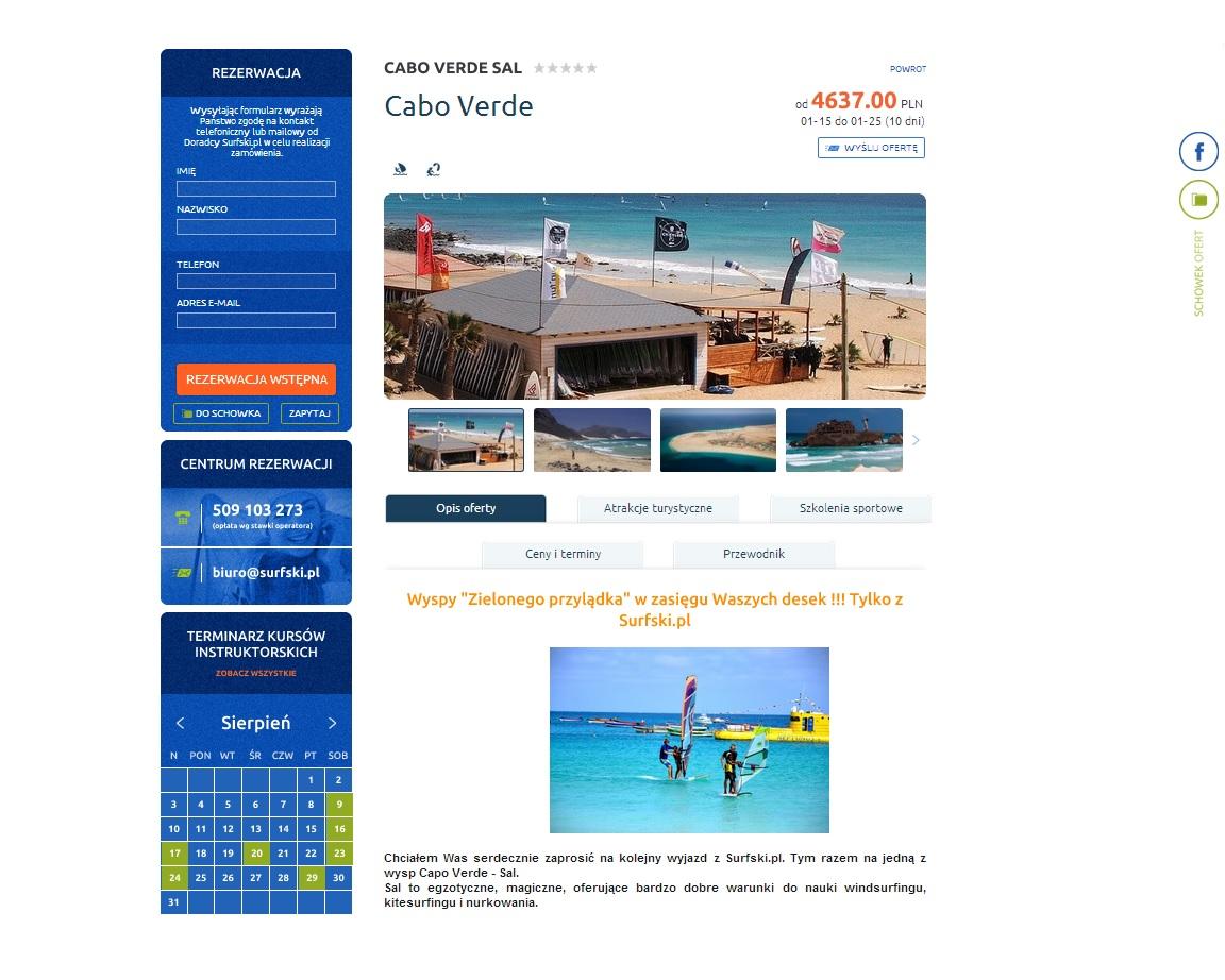 Wyjazdy szkoleniowe i rekreacyjne w windsurfingu i kitesurfingu