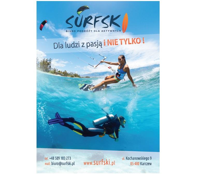 Biuro podróży dla aktywnych SURFSKI.PL rusza pełną parą - Wyjazdy zagraniczne windsurfing kitesurfing